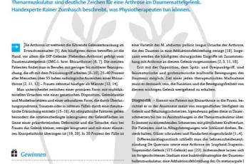 Physiotherapie bei Rhizarthrose - Download-Artikel von Rainer Zumhasch