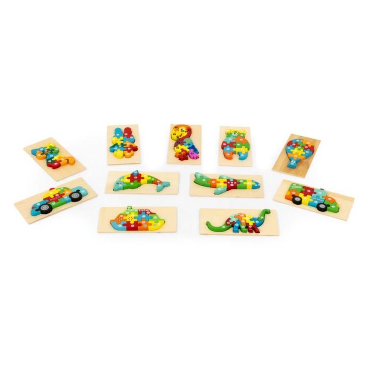 AFH 3-D Puzzle Zähllernhilfe 1 - 10   Motivauswahl