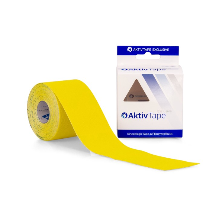 AFH Aktiv Tape | Kinesiologie Tape 5,0 cm x 5 m | gelb