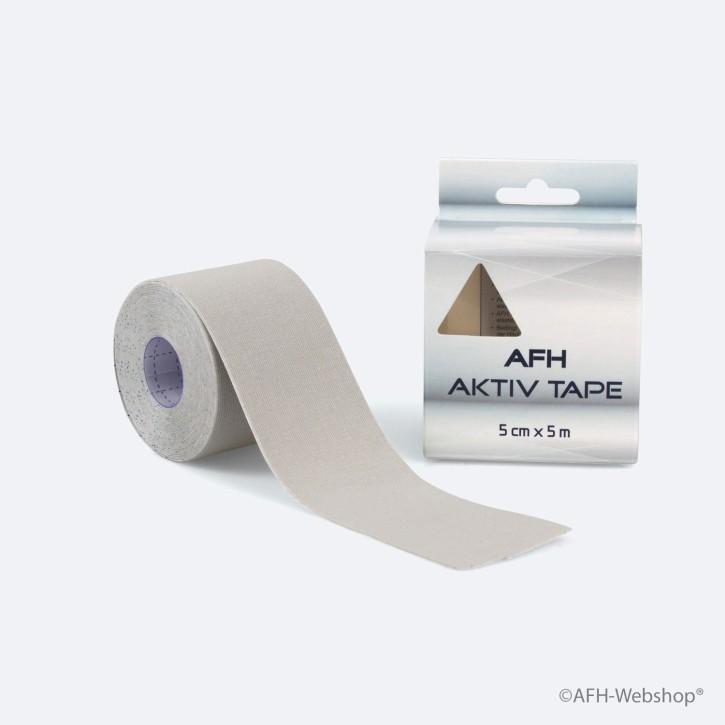 AFH Aktiv Tape | Kinesiologie Tape 5,0 cm x 5 m | grau | MHD 02/2020