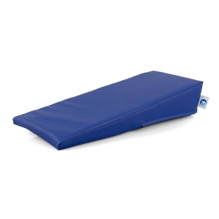 AFH Armlagerungskeil | hochwertiger Kunstlederbezug | 50 x 20 x 2-10 cm | blau