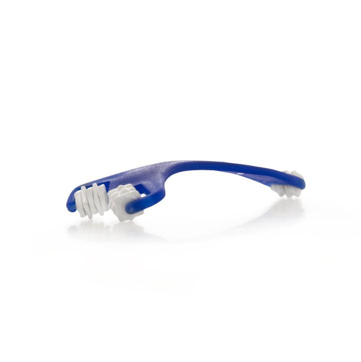 Gesichtmassageroller | Farbe blau/weiss mit Gummi Noppen