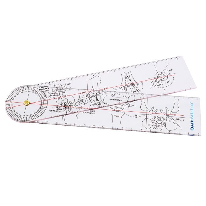 AFH Winkelmesser | Goniometer aus Acryl | Deluxe Line | Typ 1.0