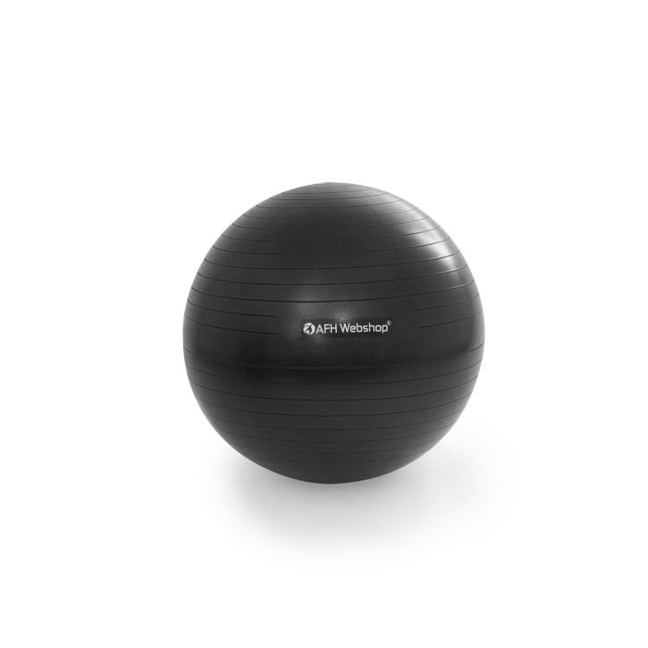 AFH TheraPIE Gymnastikball inkl. Pumpe | schwarz | ca. Ø 75 cm