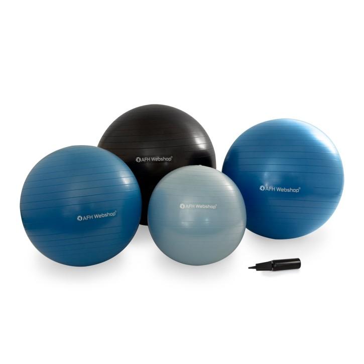AFH TheraPIE Gymnastik Ball inkl. Pumpe | Designfarben