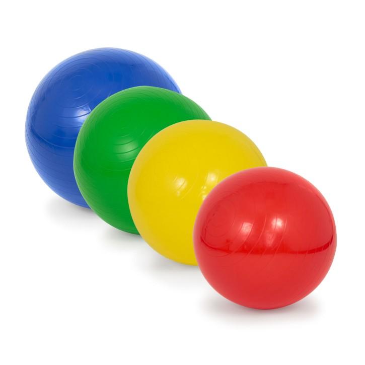 AFH Gymnastikball mit Pumpe | Sitzball | 4er Set verschiedene Größen