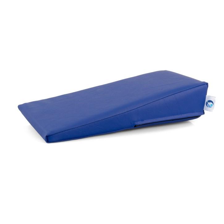 AFH Handlagerungskeil | hochwertiger Kunstlederbezug | 40 x 20 x 2-10 cm | blau