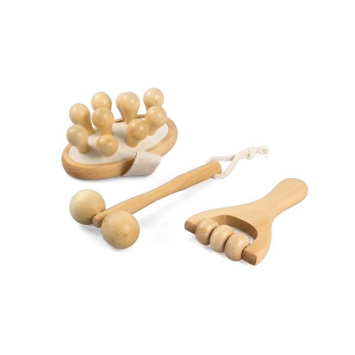 Holz Massageroller | 3er Set
