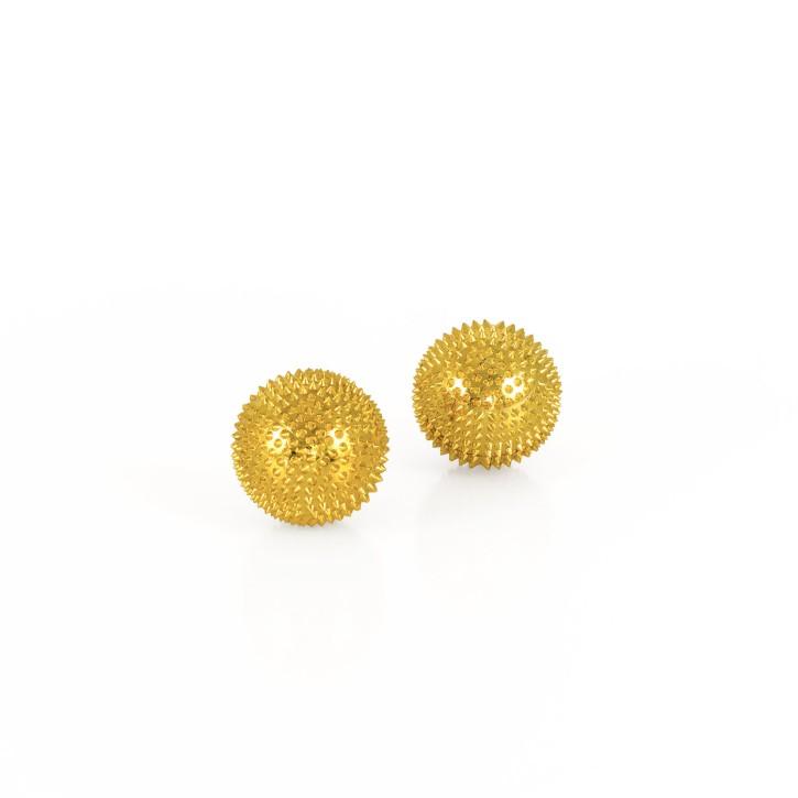 Magnet Akupunktur Massage Kugeln | 2 Stück | Ø 32 mm | gold