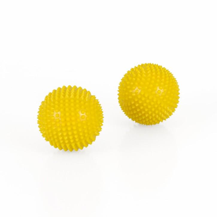 Magnet Akupunktur Massage Kugeln | 2 Stück | Ø 45 mm | gelb