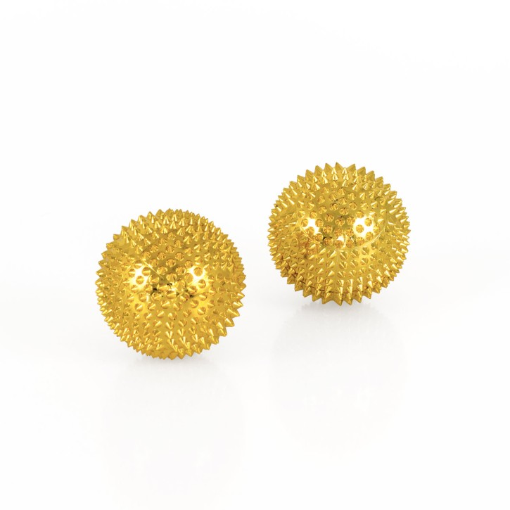 Magnet Akupunktur Massage Kugeln | 2 Stück | Ø 45 mm | gold
