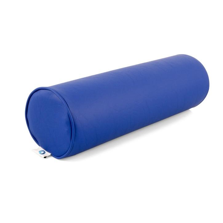 AFH Nacken- und Knierolle | hochwertiger Kunstlederbezug | 50 x 15 cm | blau