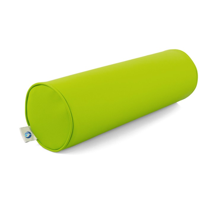 AFH Nacken- und Knierolle   hochwertiger Kunstlederbezug   50 x 15 cm   grün (hell grün)
