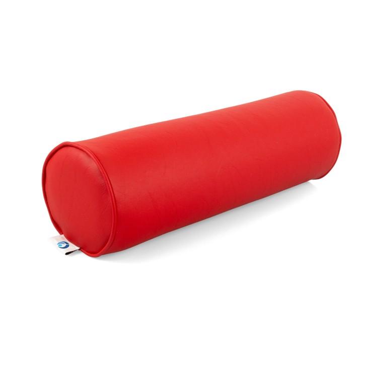 AFH Nacken- und Knierolle | hochwertiger Kunstlederbezug | 50 x 15 cm | rot