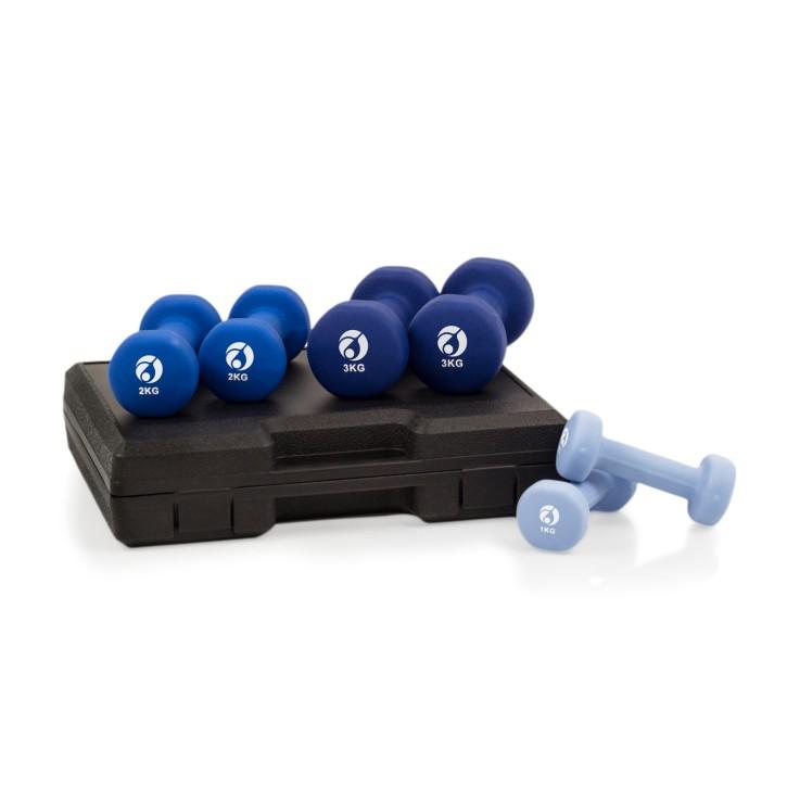 AFH Gymnastik-Hanteln | 12 kg Set im Koffer | Design-Farben