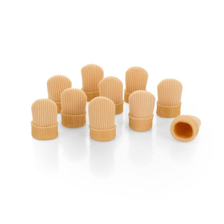 AFH Silikon Zehenschutz Premium | Fingerschutz geschlossen | 10-er Pack | XL