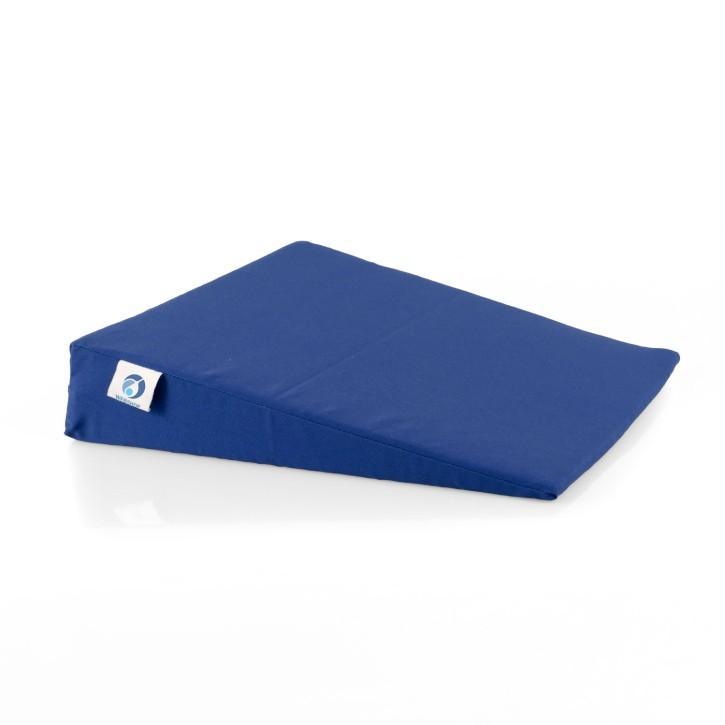 AFH Sitzkeilkissen mit Stoffbezug | 38 x 38 x 1-8 cm | blau