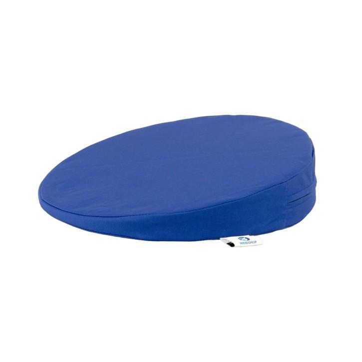 AFH Sitzkeilkissen mit Stoffbezug | rund | Ø 34 x 1-8 cm | verschiedene Farben