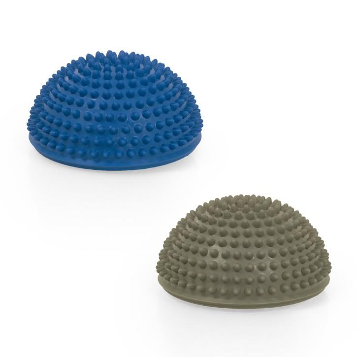 TheraPIE Balance Igel Premium Soft ca. Ø 16 cm   Blaue Variante High Quality   Hellgrau + Blau