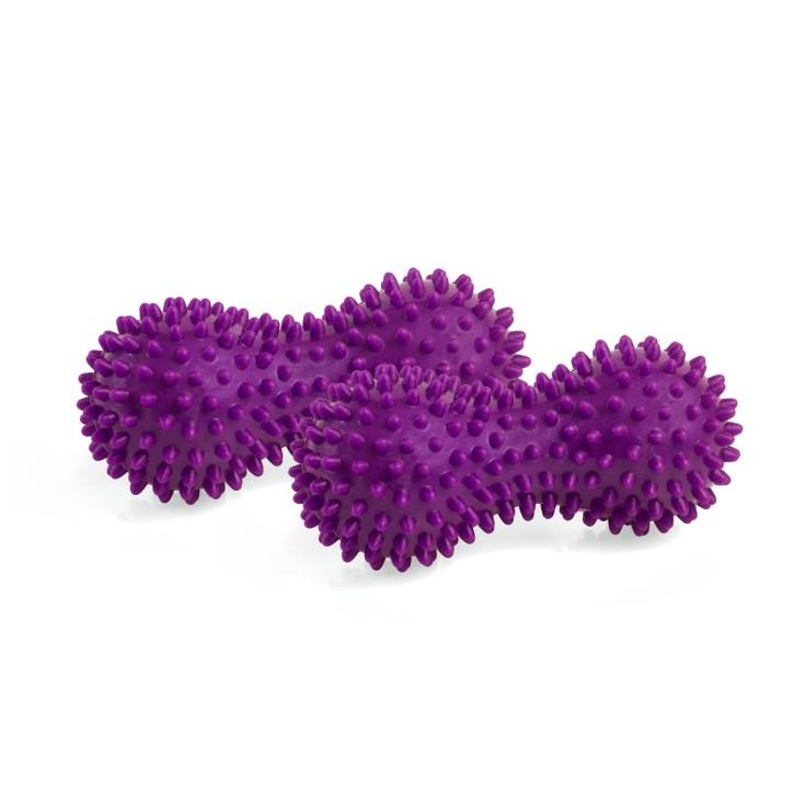 AFH TheraPIE Peanut Massageball mit Noppen | klein | 2 Stück | lila