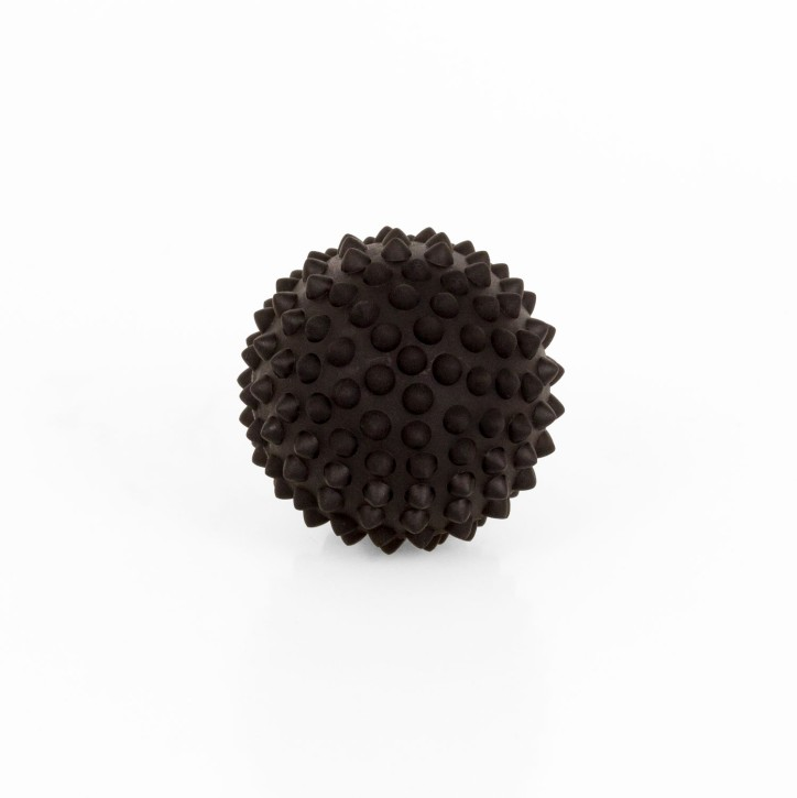 TheraPIE Massageball | Igelball SOFT Deluxe | 10,0 cm = schwarz
