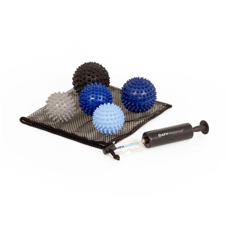 TheraPIE Massageball | Igelball SOFT Deluxe | 5er Set inkl. Pumpe