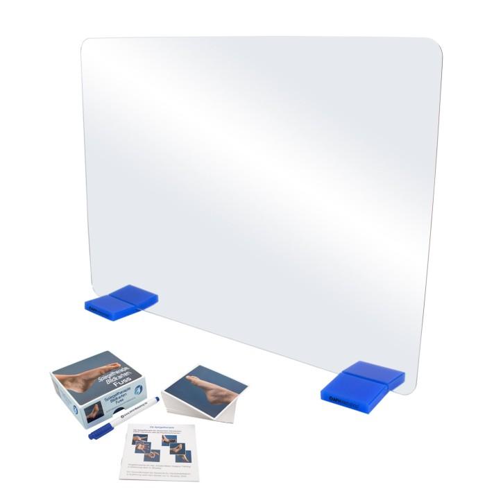 AFH Therapiespiegel Premium   groß   Standfuß: blau   Bildkarten Fuß