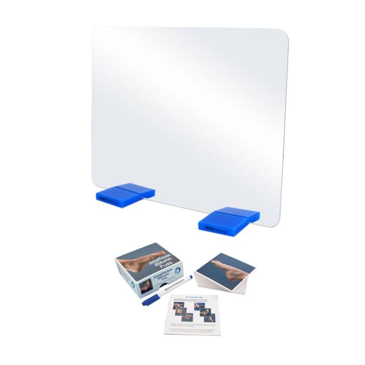 AFH Therapiespiegel Premium   mittel   Standfuß: blau   Bildkarten Fuß