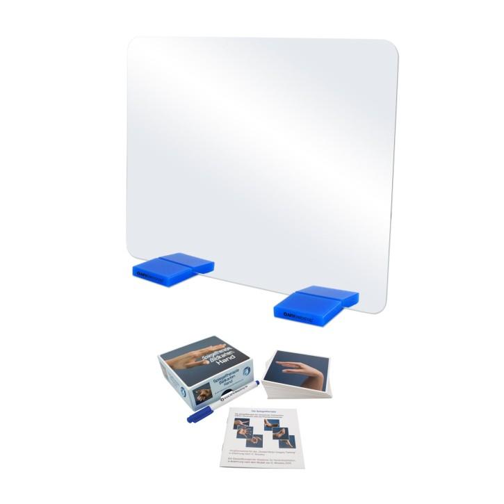 AFH Therapiespiegel Premium   mittel   Standfuß: blau   Bildkarten Hand