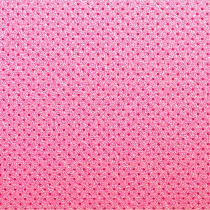 Thermoplastisches Schienenmaterial | Turbocast® | micro perforiert | 2,0mm | pink