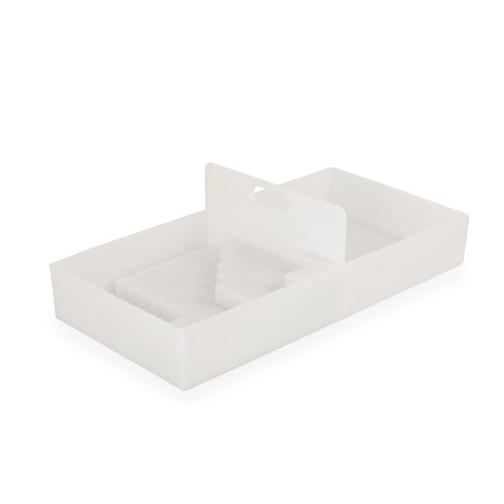 AFH Würfelbrett   Box and Block   54 x 27 x 15 cm (Handarbeit) mit 150 kleinen Quadraten