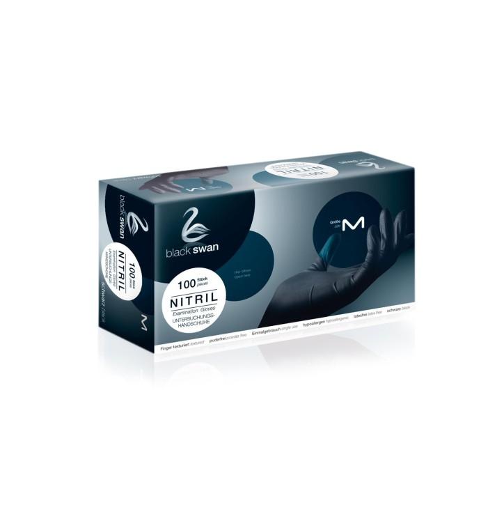 Black Swan Handschuh Nitril in schwarz | latexfrei | 100 Stück