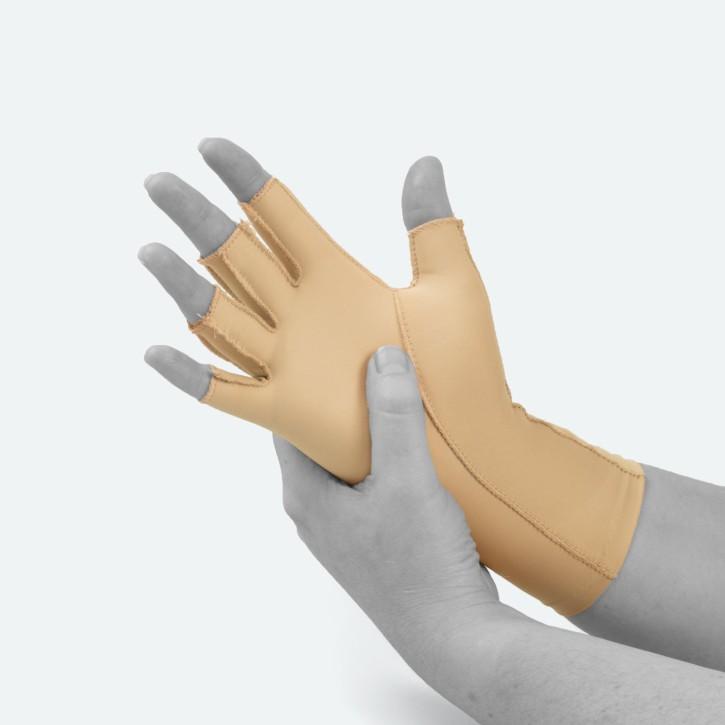 EDEMA Medium | 3/4 Finger | Ödem Handschuh | S | beige