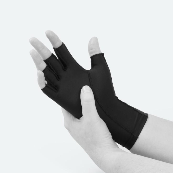 EDEMA Medium | 3/4 Finger | Ödem Handschuh | XXS | schwarz