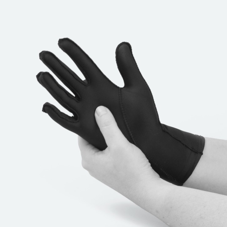 EDEMA Light | FullFinger | Ödem Handschuh | S | schwarz