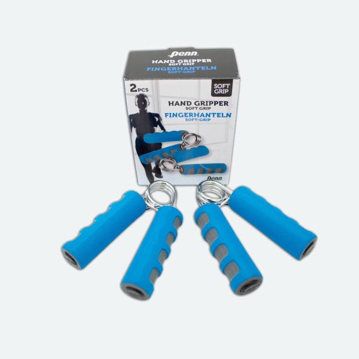 Fingerhanteln mit SOFT GRIP | Handtrainer | Fingertrainer | Krafttrainer | blau