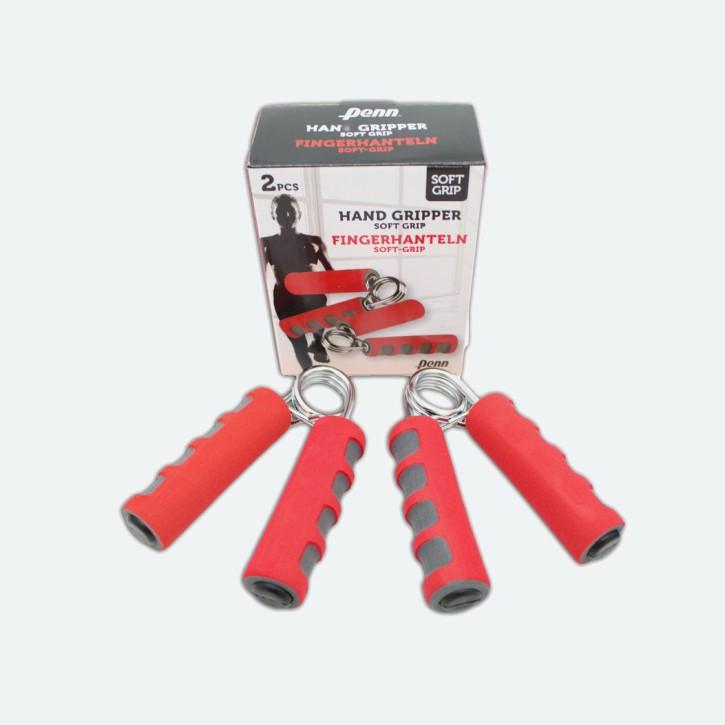 Fingerhanteln mit SOFT GRIP | Handtrainer | Fingertrainer | Krafttrainer | rot