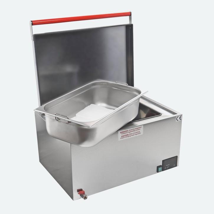 Heuser Paraffinbad | Paraffincontainer 10 Liter | rot