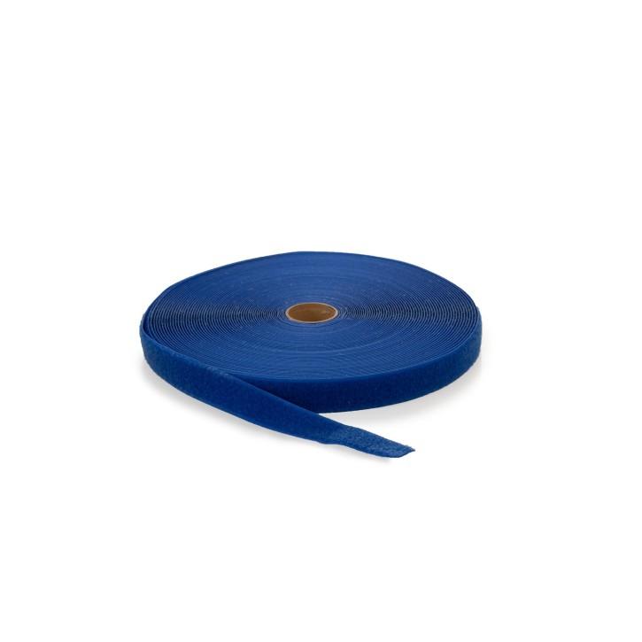 Flauschband | Breite: 25mm | Länge: 25m | blau