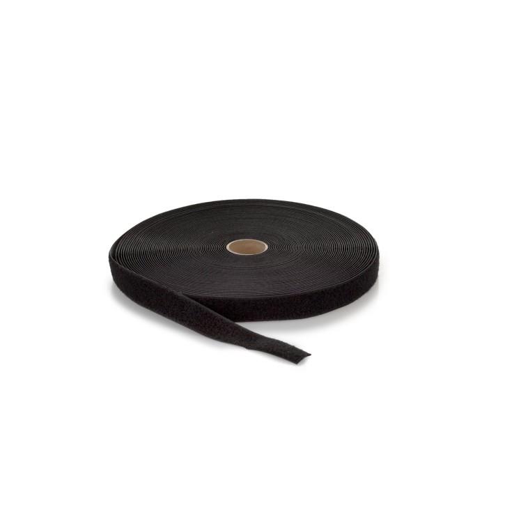 Highend-Flausch-Klettband | Breite: 25mm | Länge: 25m | schwarz