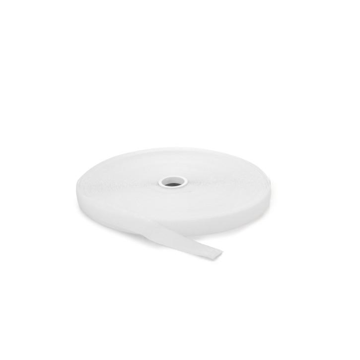 Flauschband | Breite: 25mm | Länge: 25m | weiß