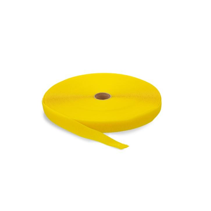 Highend-Flausch-Klettband | Breite: 38mm | Länge: 25m | gelb