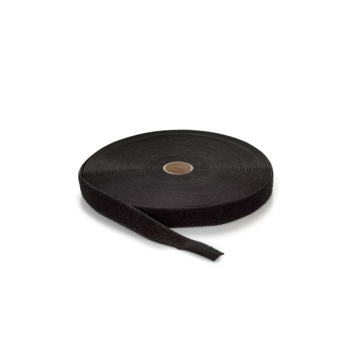 Highend-Flausch-Klettband | Breite: 38mm | Länge: 25m | schwarz
