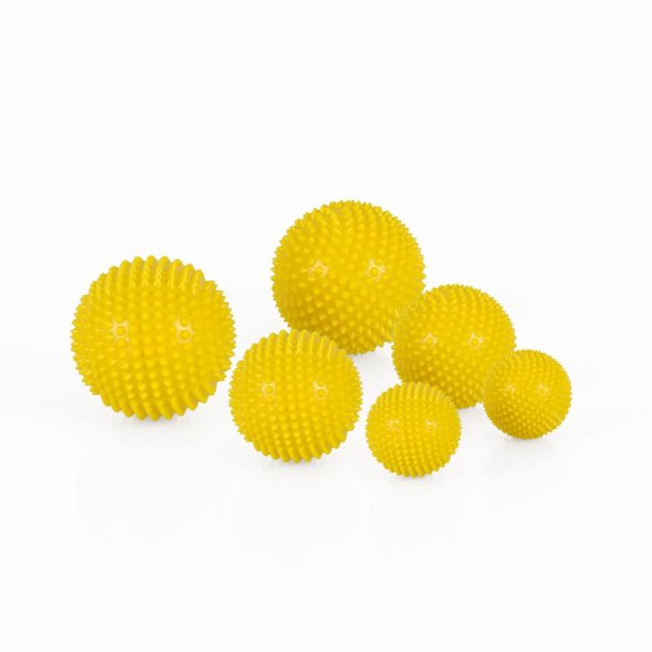 Magnet Akupunktur Massage Kugeln | 3 x 2er Set (3 Größen) | gelb