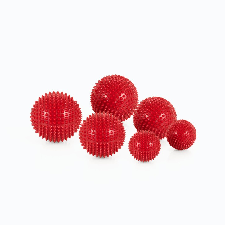 Magnet Akupunktur Massage Kugeln | 3 x 2er Set (3 Größen) | rot