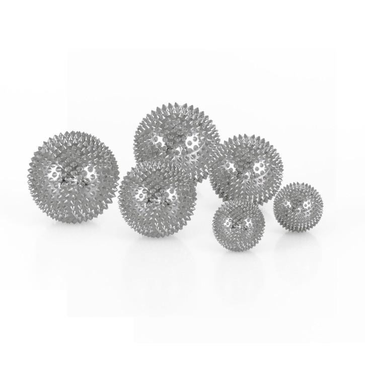 Magnet Akupunktur Massage Kugeln | 3 x 2er Set (3 Größen) | silber