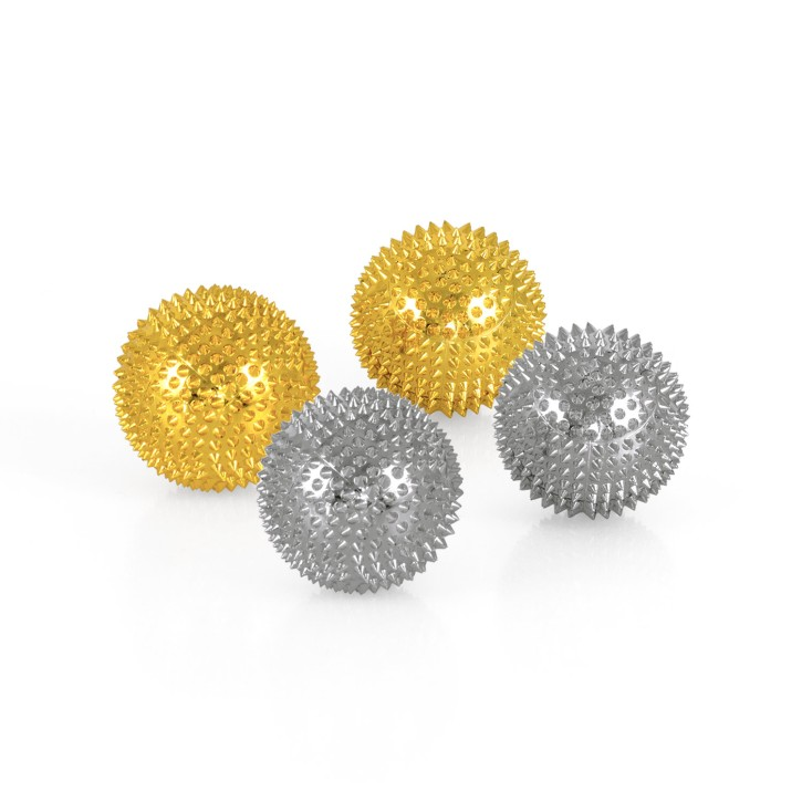Magnet Akupunktur Massage Kugeln | 2x2er Pack | Gold + Silber | Ø 45 mm