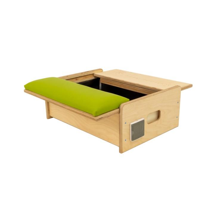 ManuThermBox   Therapiebox zum Erwärmen   Holz: Birke farblos   Farbe: Limone   Füllung: Kirschkerne