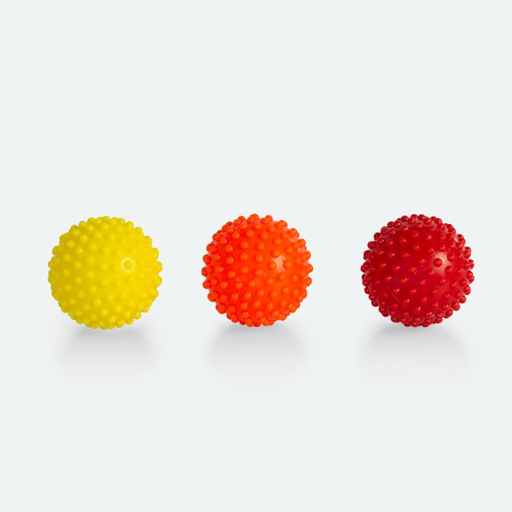 Massageball 3er Set | Akupressur | Triggerpunkt | verschiedene Stärken und Größen