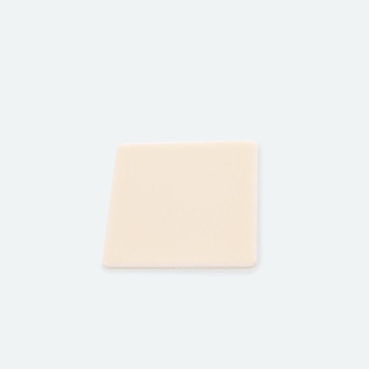 OLEEVA Foam selbsthaftende Silikon Folie Auflage | Schaumstoff-Beschichtet 13,0 x 13,0 cm | MHD erreicht